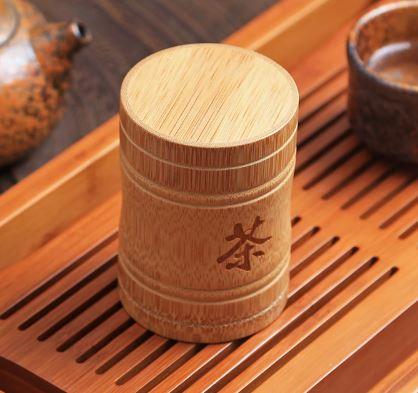 Boîte à Thé en Bois Gravée