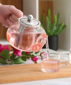 utilisation de la théière en verre