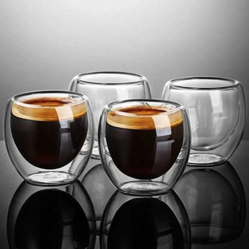4 verres expresso double paroi