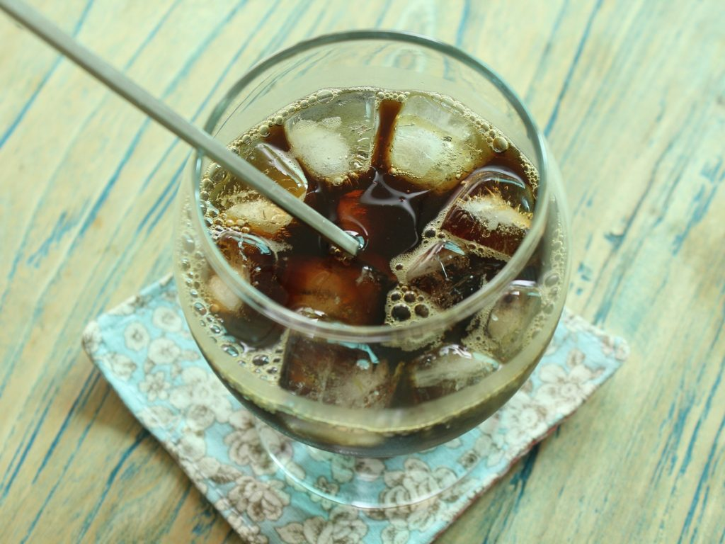 café glacé obtenu avec la cafetière originale