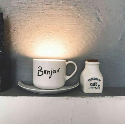 Lampe Décorative Tasse de Café Blanche