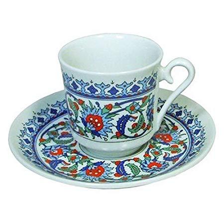 Tasse à café turc en porcelaine
