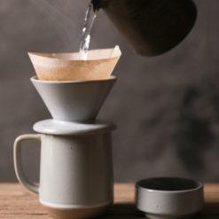 cafetière mug et filtre à café