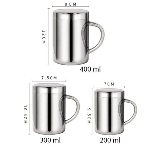 dimensions tasses en inox