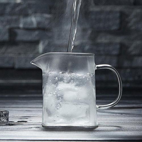 Théière verre et inox