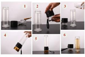 utilisation de la bouteille infuseur