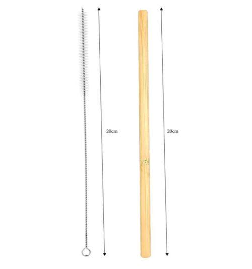 dimensions paille en bambou et brossette