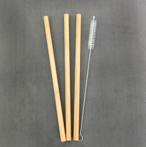 3 pailles en bambou