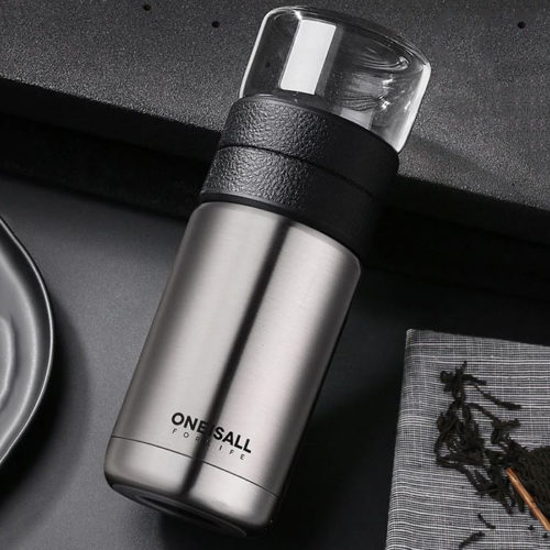 thermos infuseur gris