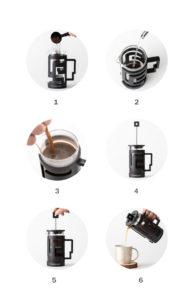 utilisation de la cafetière à piston originale