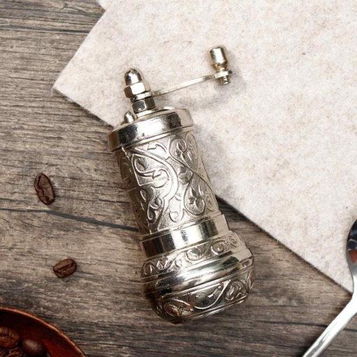 moulin à café turc argent