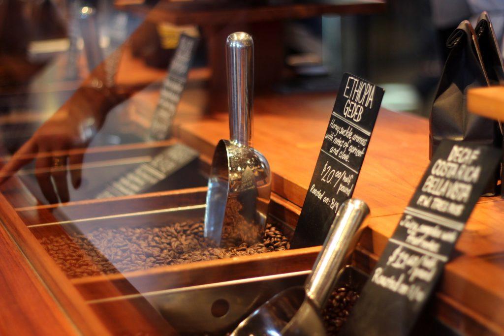 café en grains à vendre en boutique