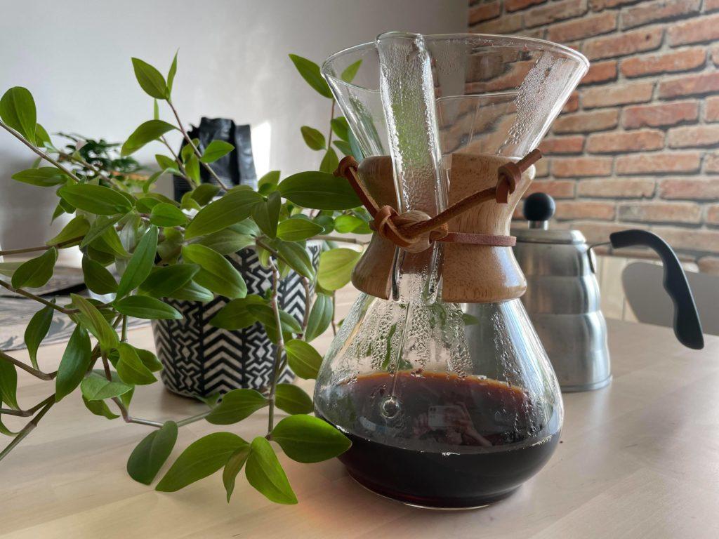 Un bon café avec le bon dosage chemex