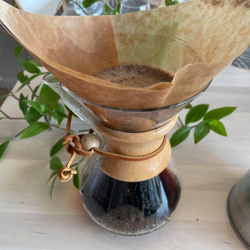 extraction du café